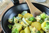 Brócoli y patatas al horno con salsa gribiche