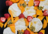 Semifrío de mango y coco