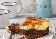 Tarta de queso y chocolate {sin gluten}