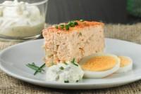 Tarta de queso y salmón ahumado